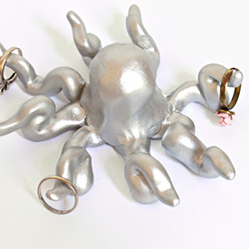 Polymer Clay Octopus Ring Holder