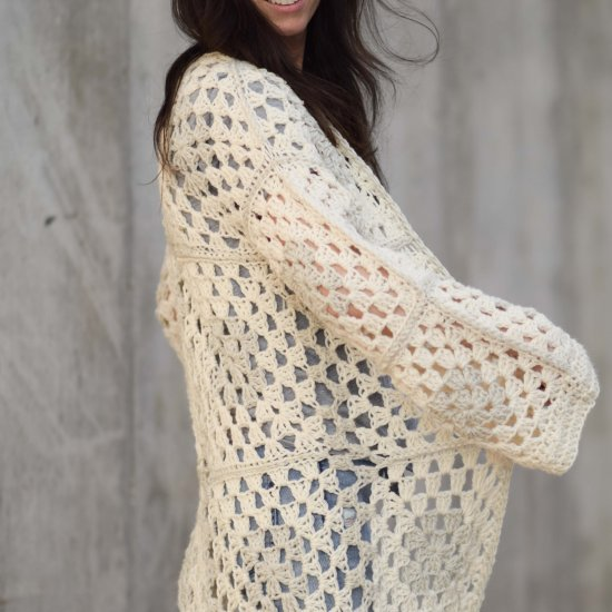 Arlo Granny Crocheted Cardigan