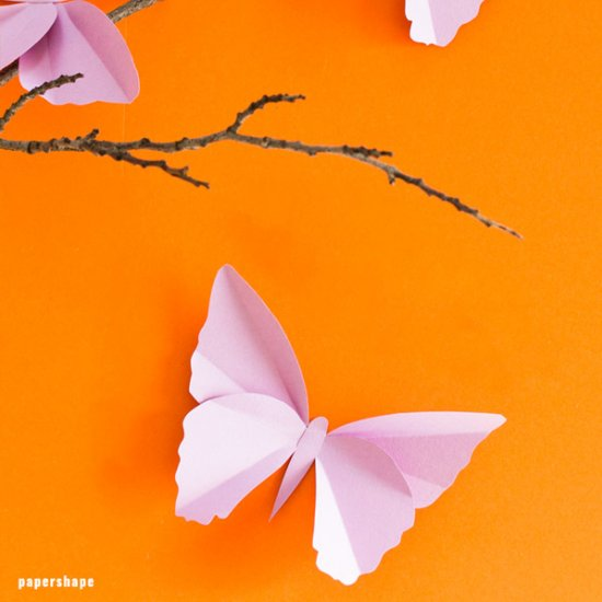 Easy paper butterflies