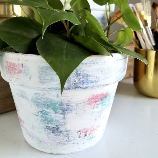 Funky Layered Painted Pots