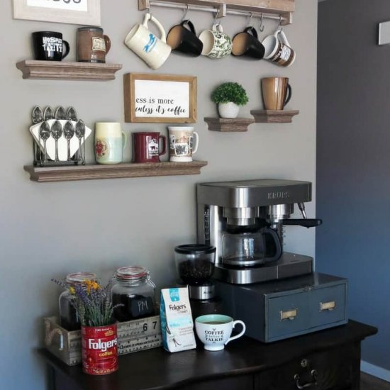 DIY Coffee Station at Home