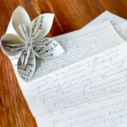 Origami Flower Out Of Love Letters