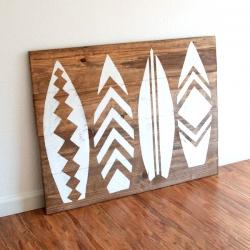 ... Surfboard Headboard / Wall Art