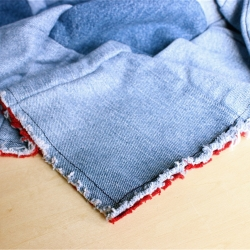 How to make a rag quilt with jeans