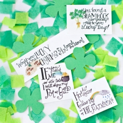 photograph relating to Printable Leprechaun titled Free of charge Printable Leprechaun Notes for St. Patricks Working day
