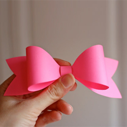 Simple Paper Bow Template Craftgawker