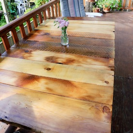 Patio table gallery craftgawker diy patio table with reclaimed wood watchthetrailerfo