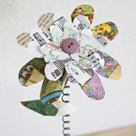 Recycled paper flowers gallery craftgawker beauitufl book flowers mightylinksfo Choice Image