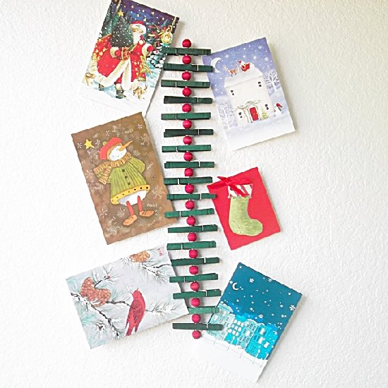 clothespin christmas card holder - Photo Holder Christmas Cards
