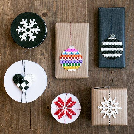 perler bead christmas tags - Perler Beads Christmas