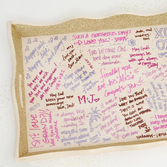 Learn How To Make Your Own Wedding Guest Book Serving Tray