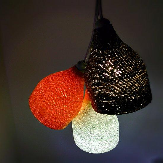 ... Designer Paper Yarn Lamp