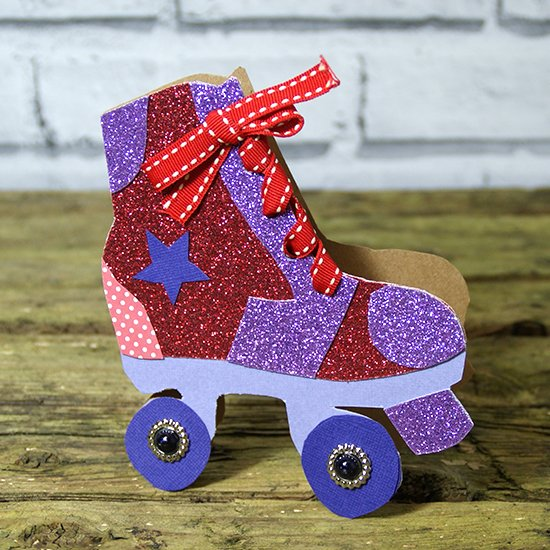 roller skate card with template craftgawker