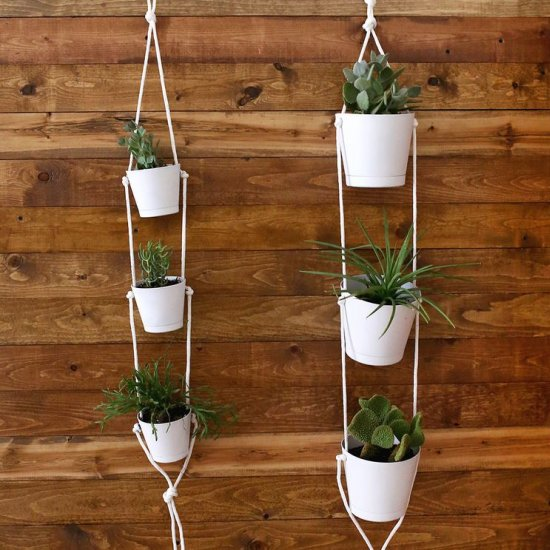 ... Three Tier Indoor Rope Planter