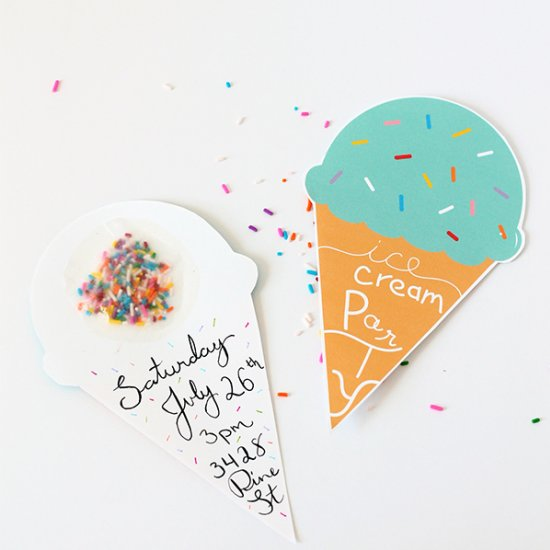 ice cream birthday party invitations : ukrobstep, Party invitations