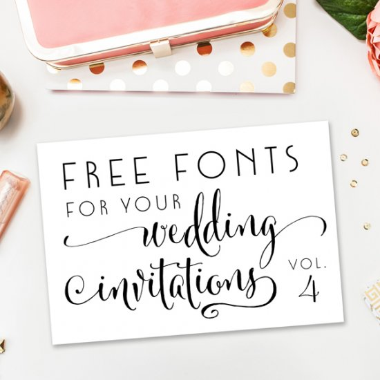 free fonts for weddings and diy - Wedding Invitation Fonts