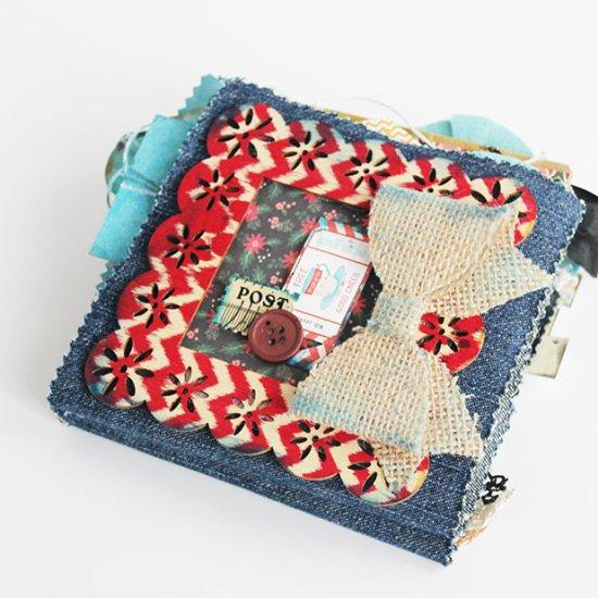 Denim And Paper Bag Scrapbook Craftgawker