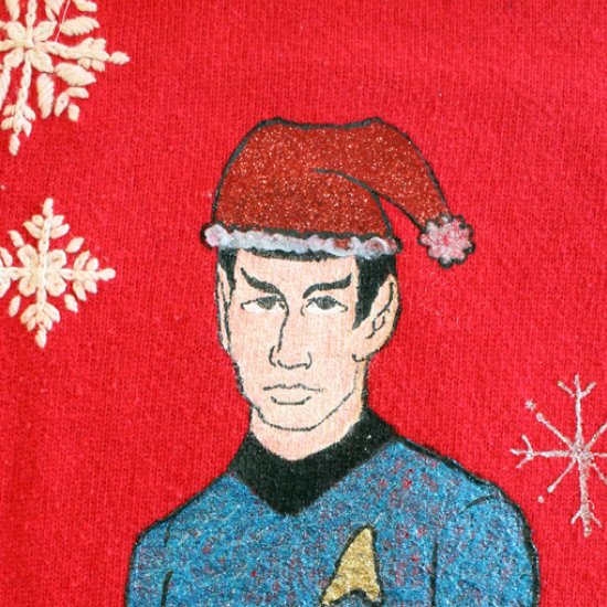 diy star trek christmas sweater