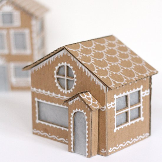 Tiny Cardboard Gingerbread Houses Craftgawker