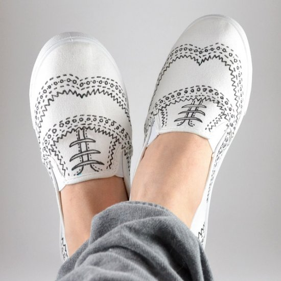 Hand Drawn Oxford Sneakers