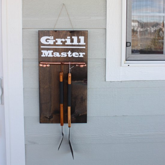 Diy Grill Tools Display Sign