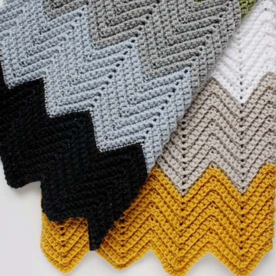 Crochet Chevron Blanket Pattern Craftgawker
