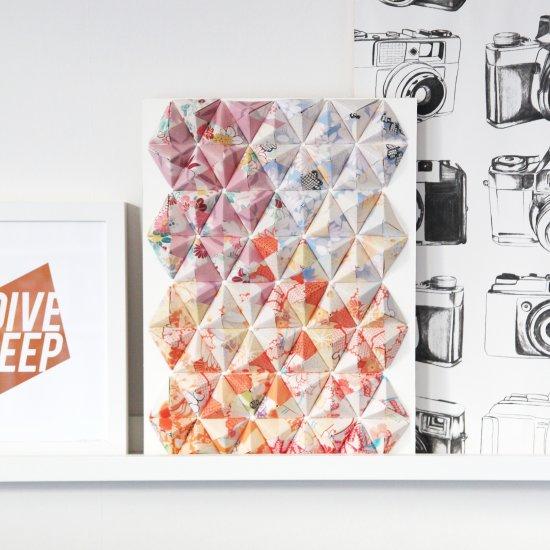 Modular: free diagrams instructing you how to fold unit origami ...   550x550
