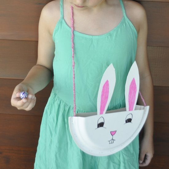 ... Paper Plate Bunny Bag : easter crafts with paper plates - pezcame.com
