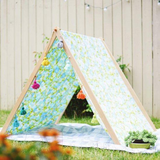 diy fold up a-frame tent | craftgawker