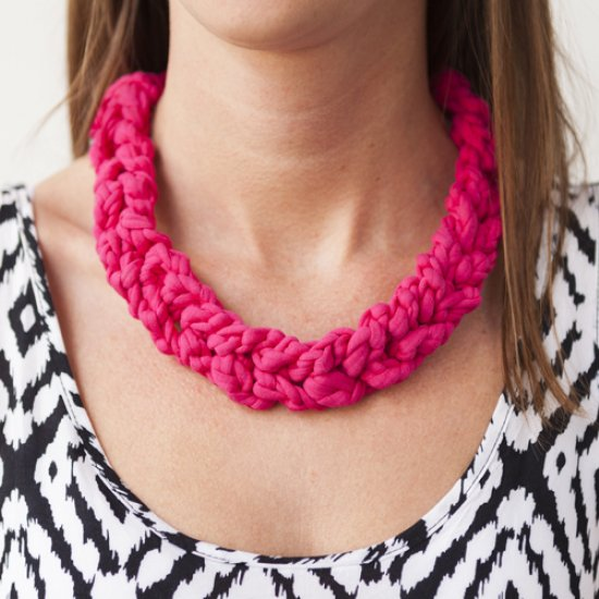 Chunky Crochet Necklace Craftgawker
