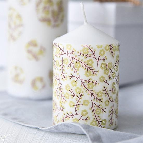 candle diy using paper napkins craftgawker
