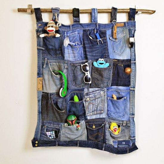 Diy Jeans Pocket Organizer Craftgawker