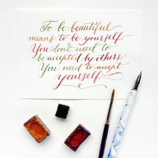 Diy Watercolor Calligraphy Tutorial