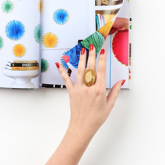 DIY Glitter Rings