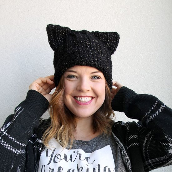 00a044c4c2bcc Black Cat Slouch Hat  86775 persialou Get the free crochet pattern ...