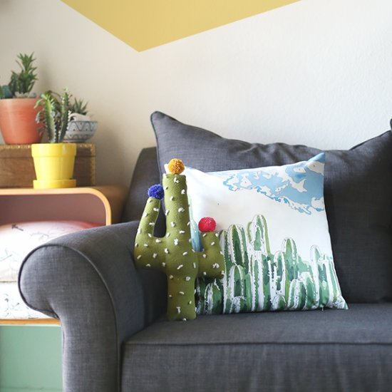 Paint by Numbers Cactus Pillow