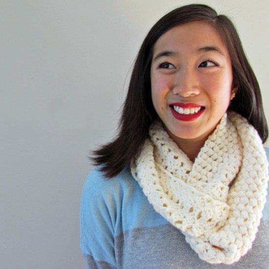 Two-Textured Crochet Scarf