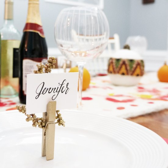 diy table name place holders