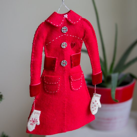 Red Coat Christmas Tree Ornament