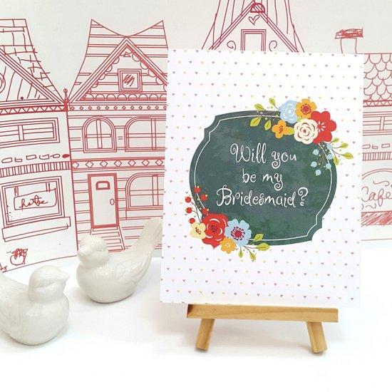 free printable bridesmaid card craftgawker