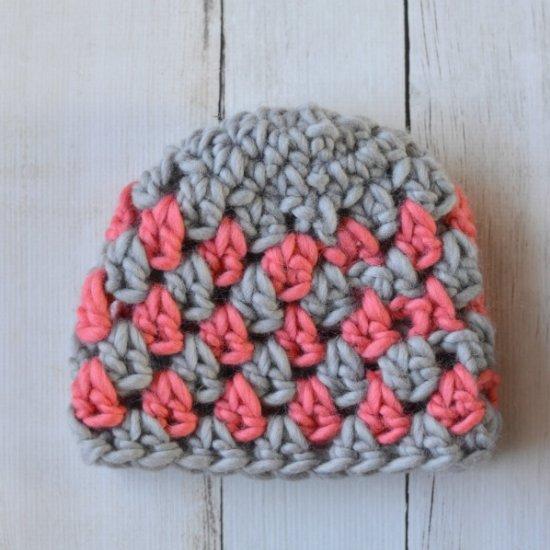 ... Super Chunky Granny Stitch Hat a23bfa0290a