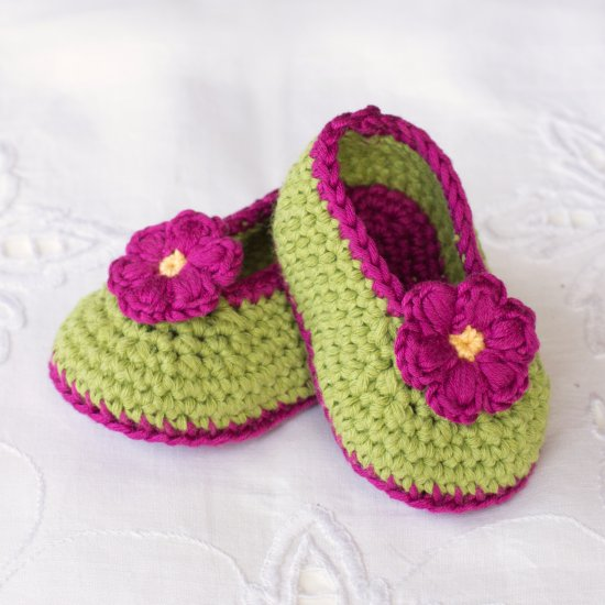 Fairy Blossom Baby Booties Pattern