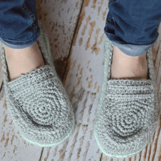 Women's Crochet Loafer Slippers