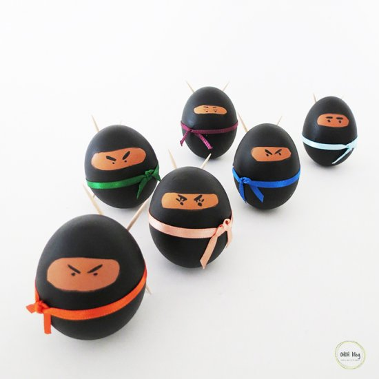 Easter ninja eggs