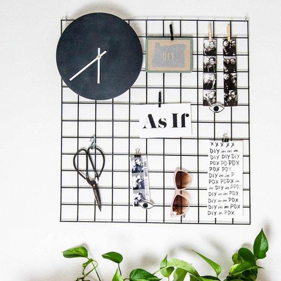 Metal Grid Wall metal wall grid display | craftgawker