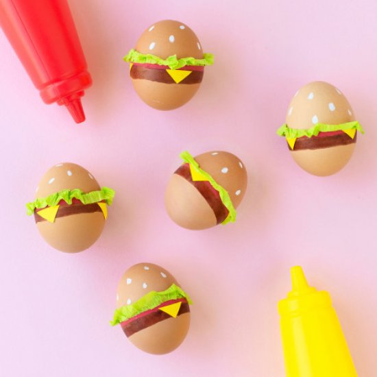 DIY Burger Easter Eggs