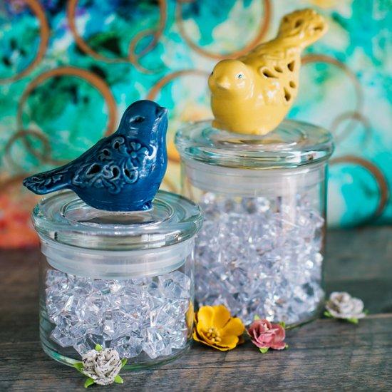 Springtime Birdie Jars