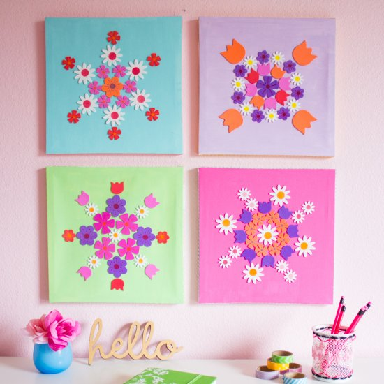 Diy Flower Canvas Wall Art Craftgawker