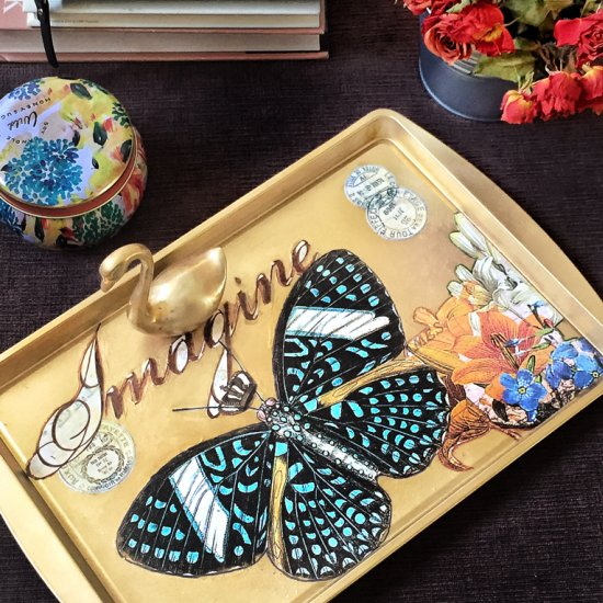 Decorative DIY Decoupage Tray…