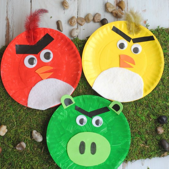 Craft Create Cook - Angry Birds Paper Plate Kids Craft - Craft ...